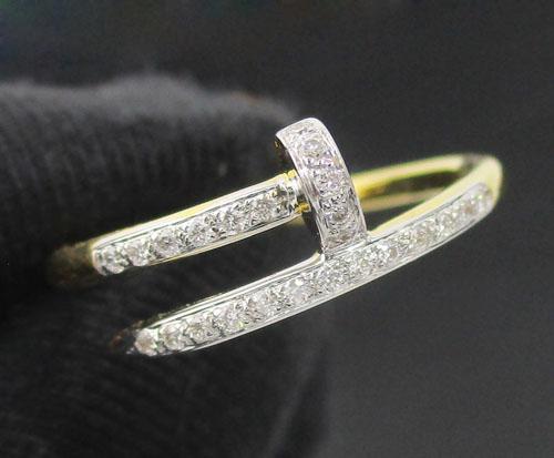 แหวน ตะปู ฝังเพชร 24 เม็ด 0.12 กะรัต ทอง90 งานสวยมาก นน. 3.10 g