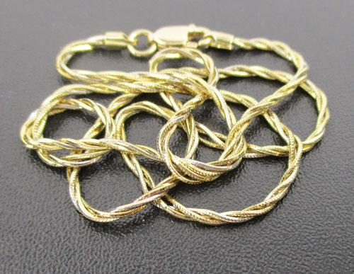 สร้อยคอ อิตาลี750 ทอง18K ลายกระดูกงู บิดเกลียว 2 กษัตริย์ งานสวยมาก นน. 7.18 g
