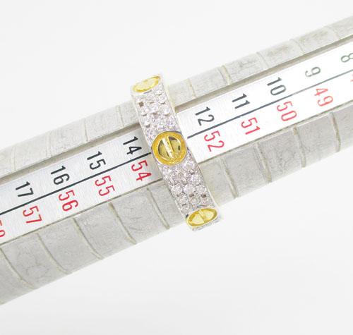 แหวน เพชร 3 แถว ตัดลาย เพชร 66 เม็ด 0.50 กะรัต ทอง18K 2 กษัตริย์ งานสวยมาก นน. 5.40 g 4