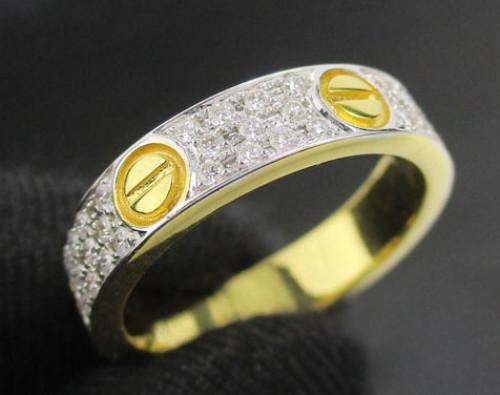 แหวน เพชร 3 แถว ตัดลาย เพชร 66 เม็ด 0.50 กะรัต ทอง18K 2 กษัตริย์ งานสวยมาก นน. 5.40 g