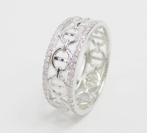 แหวน เพชรฉลุลาย รอบวง เพชร 108 เม็ด 0.33 กะรัต ทอง18K งานสวยมาก นน. 3.23 g 1