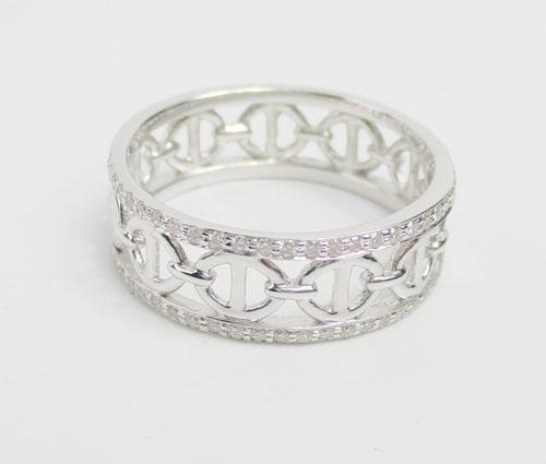 แหวน เพชรฉลุลาย รอบวง เพชร 108 เม็ด 0.33 กะรัต ทอง18K งานสวยมาก นน. 3.23 g 2