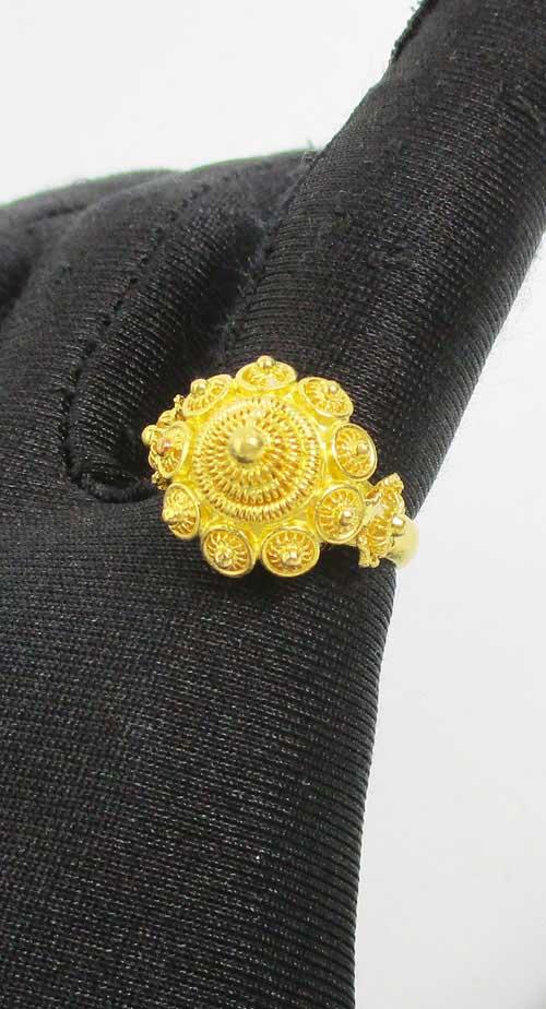 แหวน กระดุม ดอกบัว สัตตบงกช ทอง99.99 งานสวยมาก นน. 10.88 g 4