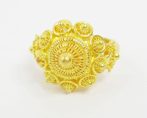 แหวน กระดุม ดอกบัว สัตตบงกช ทอง99.99 งานสวยมาก นน. 10.88 g 1