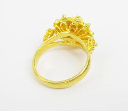 แหวน กระดุม ดอกบัว สัตตบงกช ทอง99.99 งานสวยมาก นน. 10.88 g 2