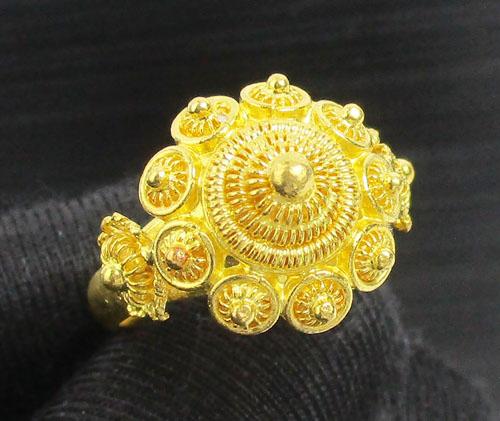 แหวน กระดุม ดอกบัว สัตตบงกช ทอง99.99 งานสวยมาก นน. 10.88 g