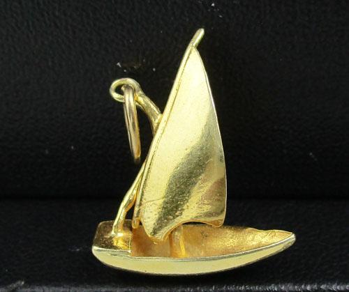 จี้ เรือใบ ทอง18K งานสวยมาก นน. 1.80 g