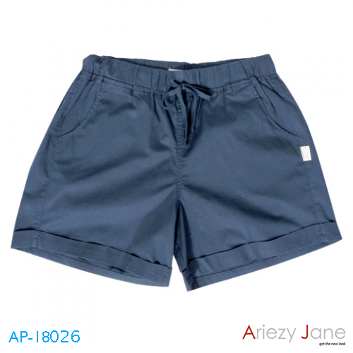 กางเกงขาสั้นสี กรมท่า AP-18026