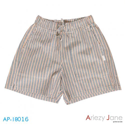 กางเกงขาสั้น ริ้วสีส้ม AP-18016