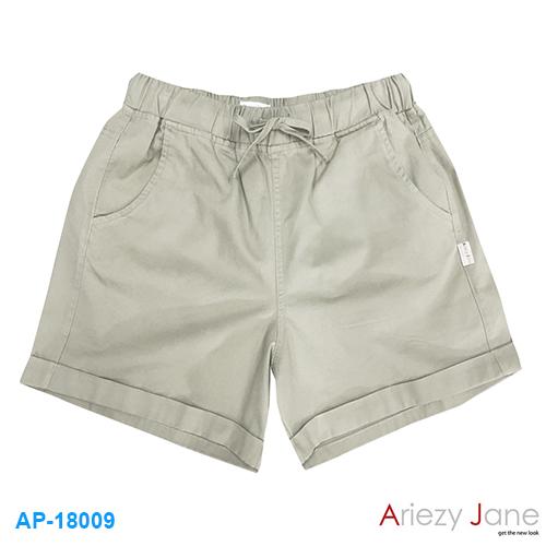 กางเกงขาสั้น พื้นกากีอมเขียว เข้ม เหลือง AP-18009