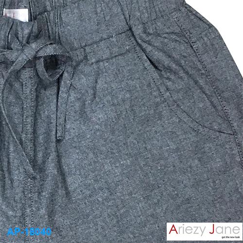 กางเกงขาสั้น พับขาเบิ้ล สีเทา AP-18040 2