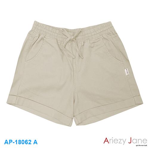 กางเกงขาสั้น 100 % cotton twill brush  สีกากี AP-18062 A