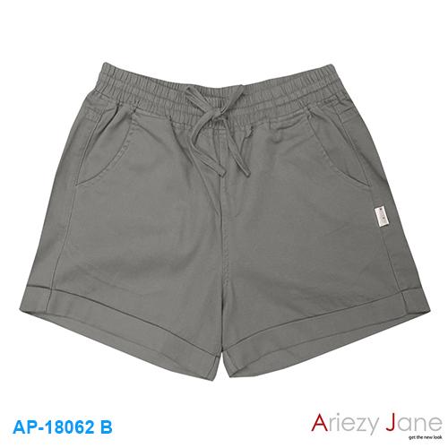 กางเกงขาสั้น 100% cotton twill brush สีเทา AP-18062 B