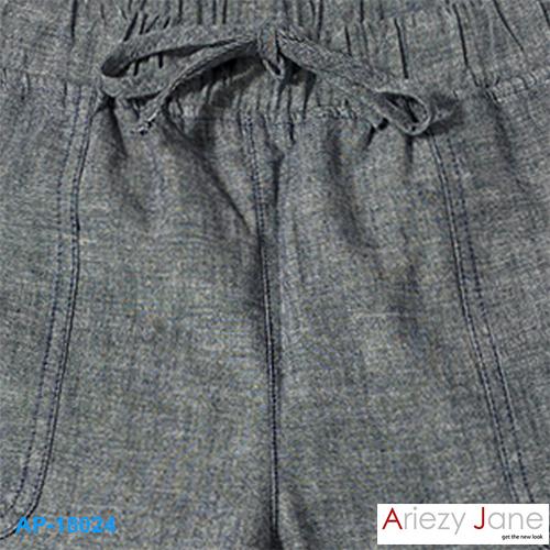 กางเกง5ส่วน เทาดำ ผ่าข้าง AP-18024 2