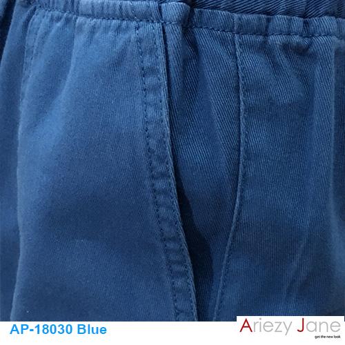 กางเกง5ส่วน ผ่าข้าง ฟ้าเข้ม AP-18030 2