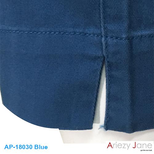 กางเกง5ส่วน ผ่าข้าง ฟ้าเข้ม AP-18030 1