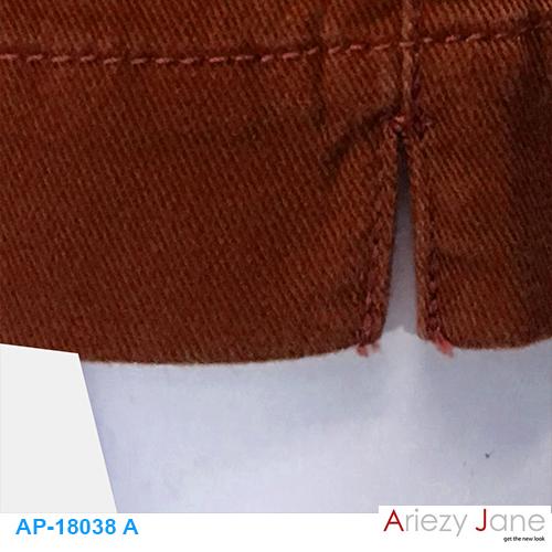 กางเกง5ส่วน ผ่าข้าง แดงปูน AP-18038 A 2