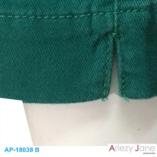 กางเกง5ส่วน ผ่าข้าง เขียว AP-18038 B 2