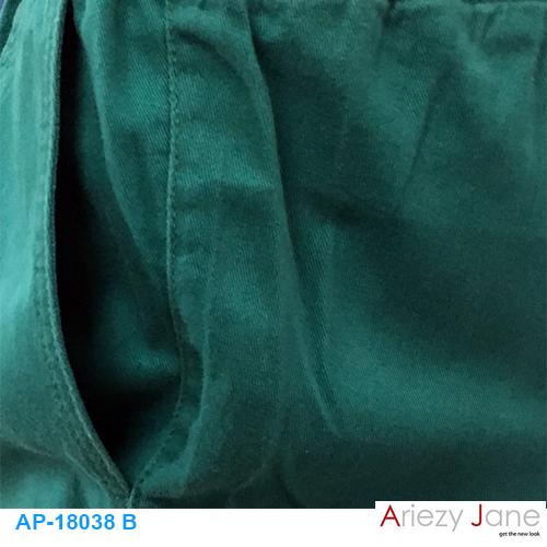 กางเกง5ส่วน ผ่าข้าง เขียว AP-18038 B 1
