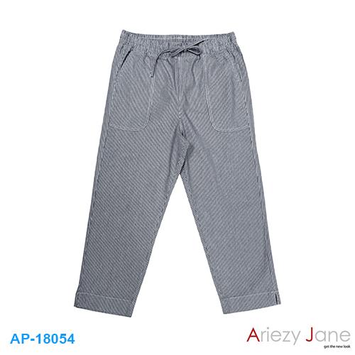 กางเกง 5 ส่วน ริ้วฟ้าขาว AP-18054