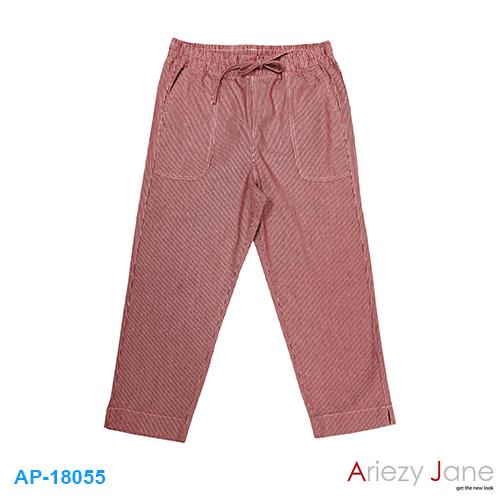 กางเกง 5 ส่วน ริ้วแดงขาว AP-18055
