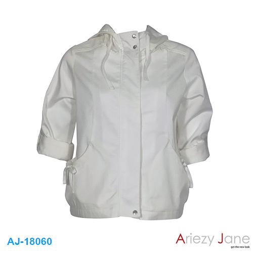 แจ็กเก็ต หมวกผ้า TWILL BRUSH สีขาว AJ-18060