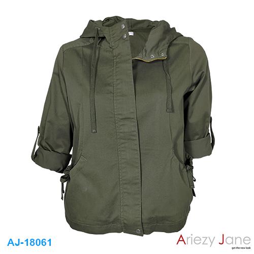แจ็กเก็ต หมวกผ้า TWILL BRUSH สีเขียว AJ-18061