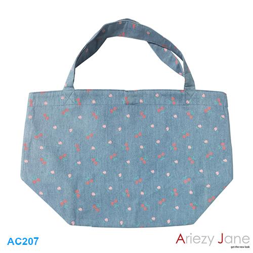 กระเป๋า ทรงสั้นลายเชอร์รี่ AC-207