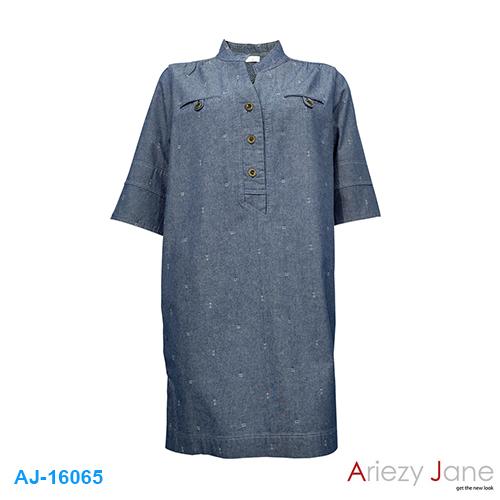 ชุดกระโปรง ยีนส์ปักลาย AJ-16065