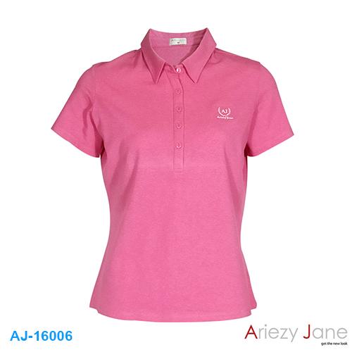 เสื้อยืดโปโล ปัก ARIEZY JANE AJ16006
