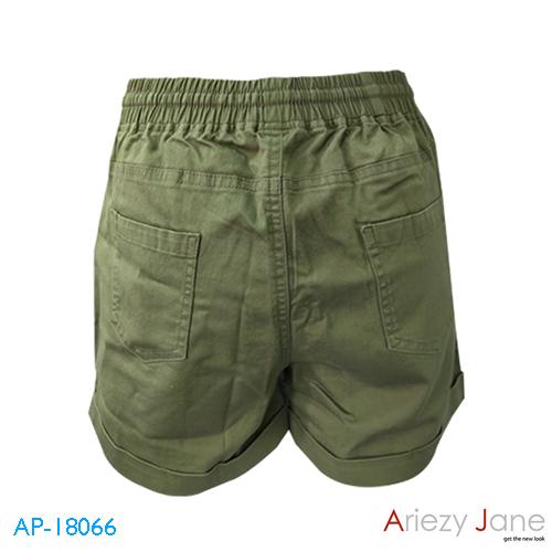 กางเกงขาสั้นผูกเอว ผ้าญี่ปุ่น สีเขียว AP-18066 B 1