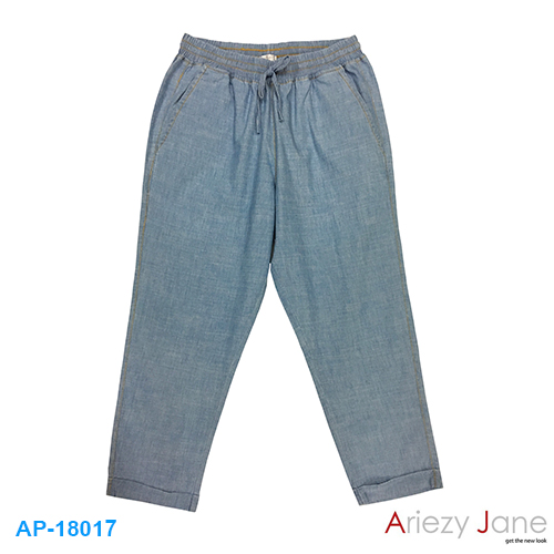 กางเกง 7 ส่วน ยีนส์ สลาฟ สีอ่อน AP-18017
