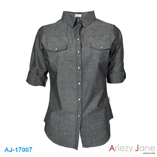 เสื้อเชื้ต สีเทา AJ-17007