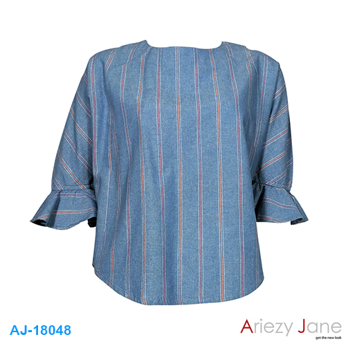 เสื้อยีนส์ ลายริ้ว AJ-18048
