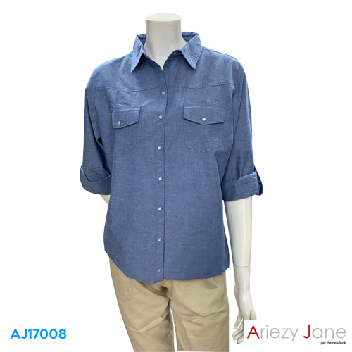เสื้อเชิ้ต แขนยาว   AJ-17008