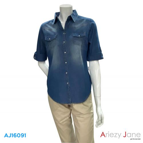 เสื้อเชิ้ต แขนยาว  AJ-16091