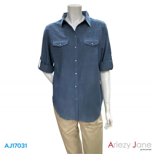 เสื้อเชิ้ตยีนส์  AJ-17031
