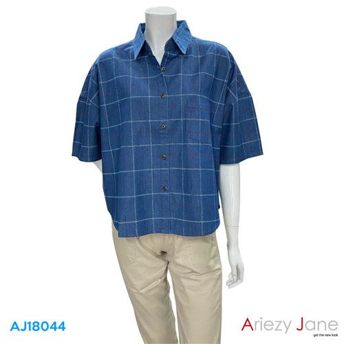 เสื้อเชิ้ต  ลายตาราง  AJ-18044