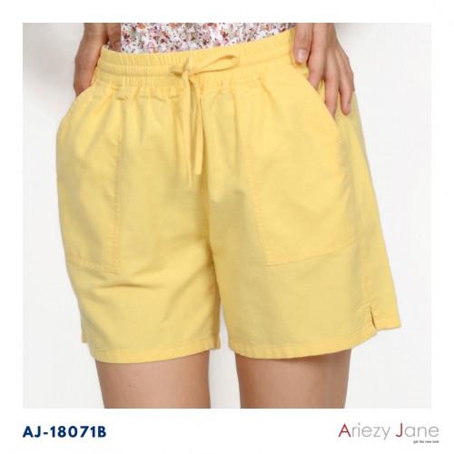 กางเกงขาสั้น ผ้าลินินผสม  AP-18071 B 1