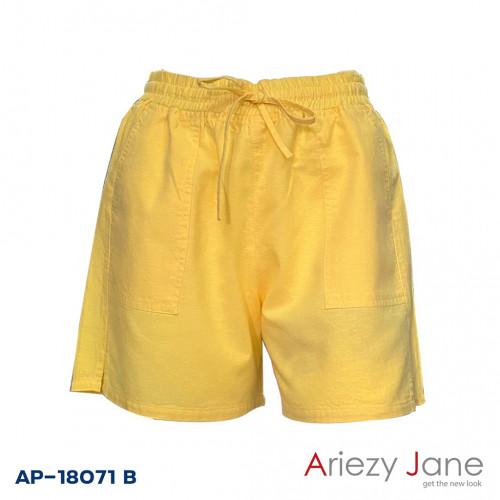 กางเกงขาสั้น ผ้าลินินผสม  AP-18071 B