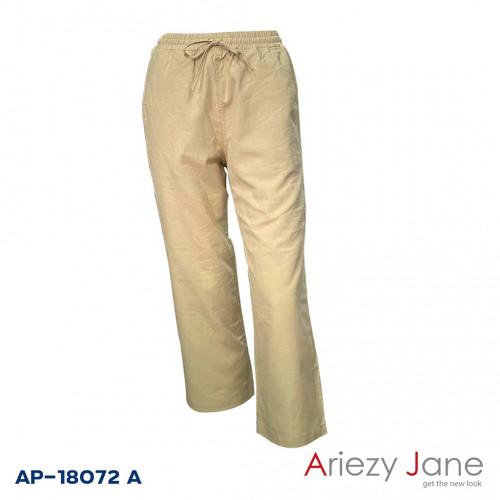 กางเกงขายาวผ้าลินินผสม AP-18072 A