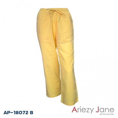 กางเกงขายาวผ้าลินินผสม  AP-18072 B