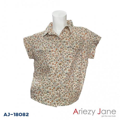 เสื้อเชิ้ตแขนสั้น ลายดอก AJ-18082