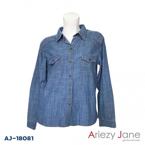 เสื้อเชิ้ตผ้ายีนส์สลาฟ AJ-18081
