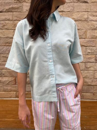 เสื้อเชิ้ตแขนสั้นผ้าลินินวิสโคส AJ-19000
