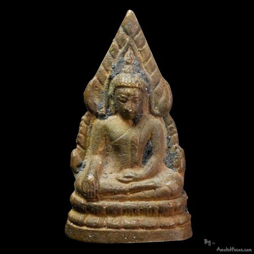พระชินราช ย้อนยุคอินโดจีน รุ่น 155 ปี เนื้อสัมฤทธิ์ทองลงหิน ผสมทองคำ เทโบราณ ชุดนำฤกษ์ในพิธี No.1434