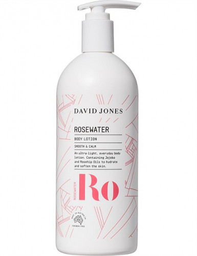 ครีมทาผิว โรสวอเตอร์ เดวิด โจนส์ ขนาด 500ML :  ROSEWATER BODY LOTION 500ML David Jones