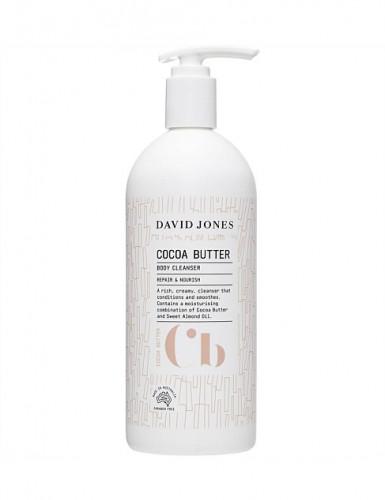 ครีมอาบน้ำ โคโคบัตรเตอร์ ขนาด 500ML เดวิด โจนส์ :  COCOA BUTTER BODY CLEANSER David Jones