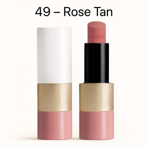 NEW HERMÈS Tinted lip balm สี 49 Rose Tan ลิปบาล์มสีสุดหรูจาก HERMÈS