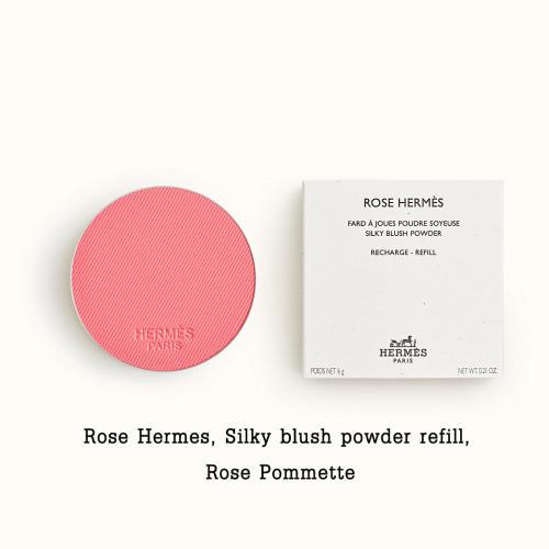 Rose Hermes, Silky blush powder refill, Rose Pommette